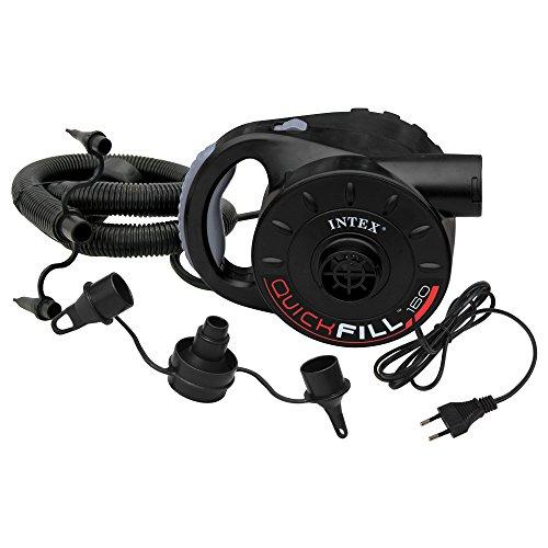 Intex Quick Fill AC Elektrische Pumpe - Elektrische Luftpumpe - Mit 3 Düsenaufsätze und Schlauch