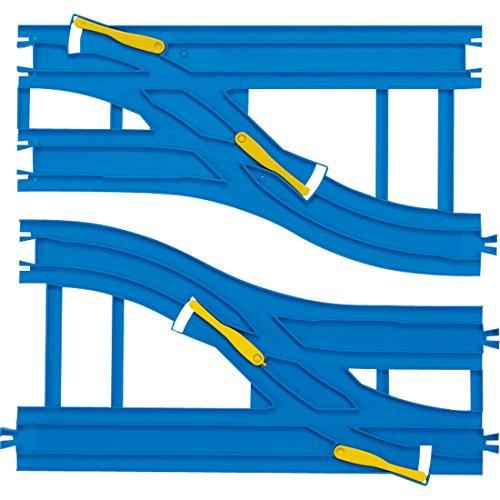 Plarail - R-15 Double-tracked Wide Point Rail (270mm) (A/B each 1pc)