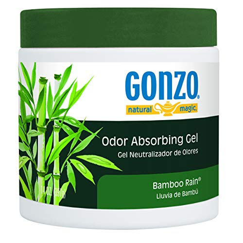 Gonzo Odor Absorbing Gel - Odor Eliminator for Car RV Closet Bathroom Pet Area Attic & More - Captures and Absorbs Smoke Mold and Other Odors - 14 Ounce