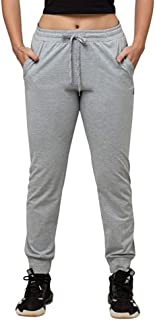 Lovable Women Girls Cotton Solid Track Pants in Grey Color- Zip Track - LG-ML