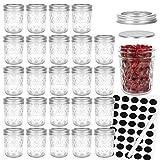 Mason Jars 6 OZ, Glass Jar ,Canning Jars Jelly Jars With Regular Lids, Ideal for Overnight oats,Jam,...