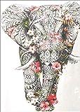 Kit de pintura de diamantes 5D, bordado de elefante,5d pintura diamante para manualidades,cuadros punto de cruz kit decoración de pared de salón de 30 x 40 cm