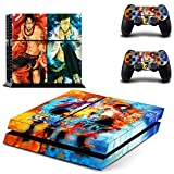 TSWEET Japón Anime One Piece Ps4 Skin Sticker Decal para Playstation 4 Console y 2 Controller Skin Ps4 Sticker...