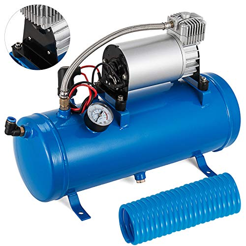 Mophorn Compresseur d'air 6L Compressor 12V Compressor Portable Mini Compresseur (Bleu)