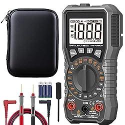 Digital Multimeter Tester,2000 Counts voltmeter Electrical Tester,AC/DC Voltage Voltage detection table,Current Detector, NCV(Manual Ranging Digital Multimeter