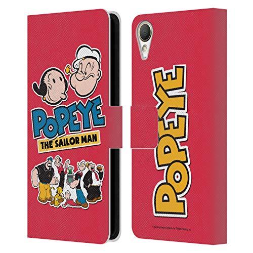 Head Hülle Designs Offiziell Zugelassen Popeye Gruppe Collage Leder Brieftaschen Handyhülle Hülle Huelle kompatibel mit HTC Desire 10 Lifestyle