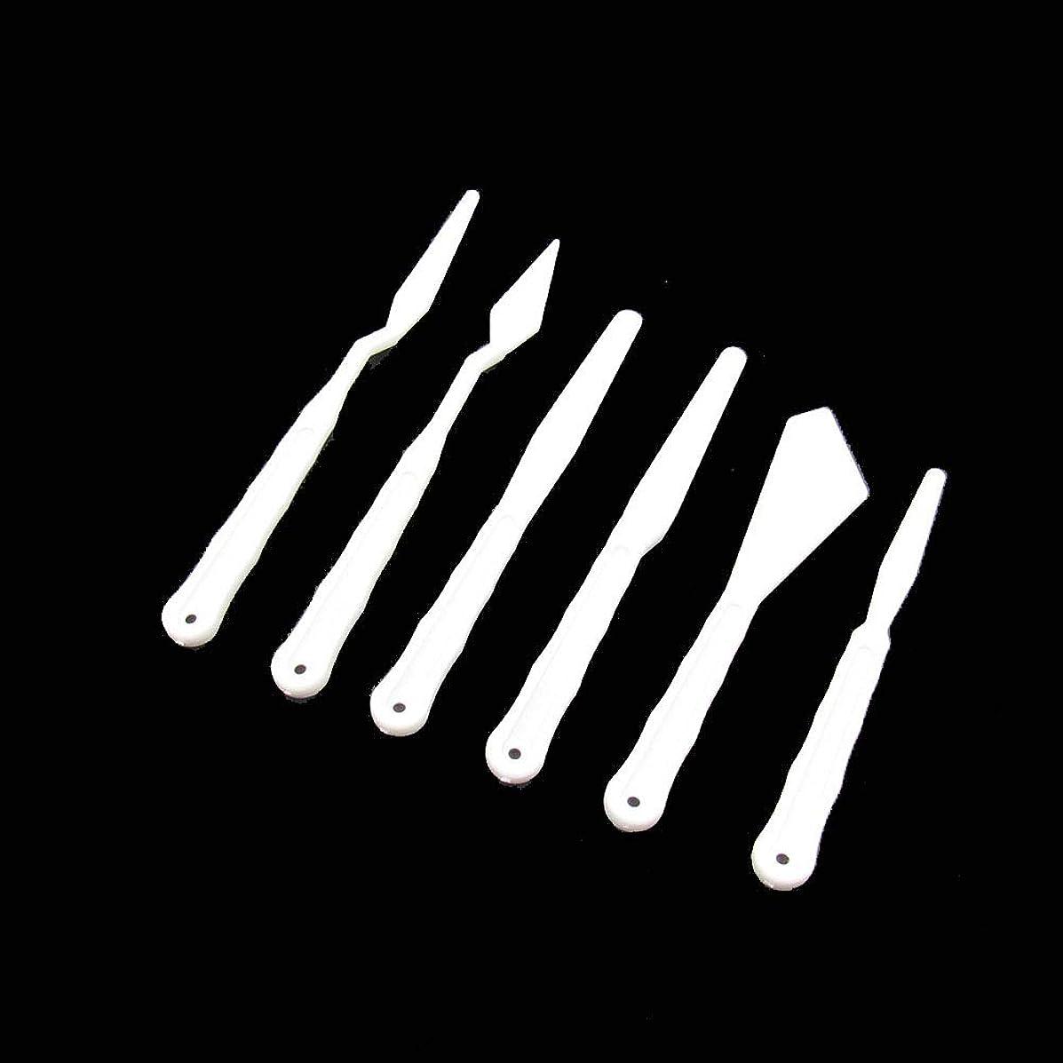 18 Pcs Plastic Spatula Palette Knives Set,Mixing Scraper Set,Flexible Art Tools for Artist Oil Painting,