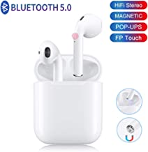 Bluetooth Headphones, Bluetooth 5.0 Wireless Earbuds, 3D Stereo 24H Playtime Wireless Sports Headset, IPX5 Waterproof, Pop-ups Auto Pairing for Apple Airpods Android/iPhone Samsung