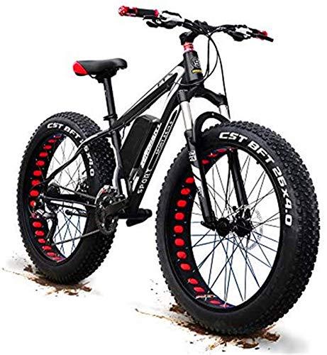 ZJZ Mejora 48V 1500w Bicicleta de montaña eléctrica 26 Pulgadas Neumático Grueso Bicicleta eléctrica (50-60 km/h) Bicicleta Deportiva Cruiser para Hombre Batería de Litio de suspensión Completa