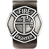 Fire Fighter Emblem 3.5 inch Antique Silver...