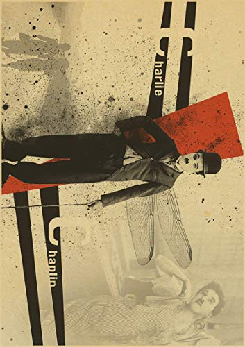binghongcha Print On Canvas Vintage Poster Chaplin Comedies Don'T Blindly Follow Retro Font Ornament, Hollywood Movie Poster A-145 (50X70Cm) Without Farme