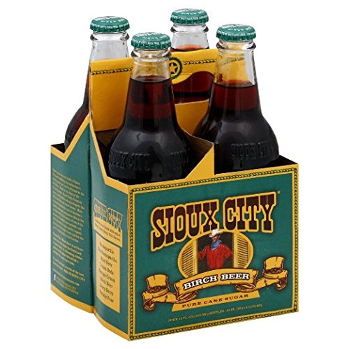 Sioux City Birch Beer, 2-4packs (Total of 8 Bottles)