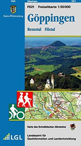 Göppingen, Remstal Filstal: Karte des Schwäbischen Albvereins (Freizeitkarten 1:50000 / Mit Touristischen Informationen, Wander- und Radwanderungen)