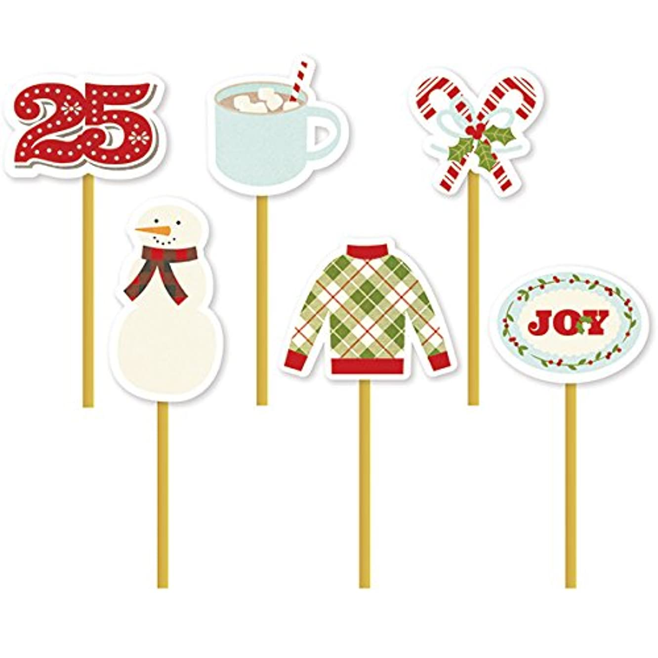 Simple Stories Classic Christmas Decorative Clips, 6 Piece