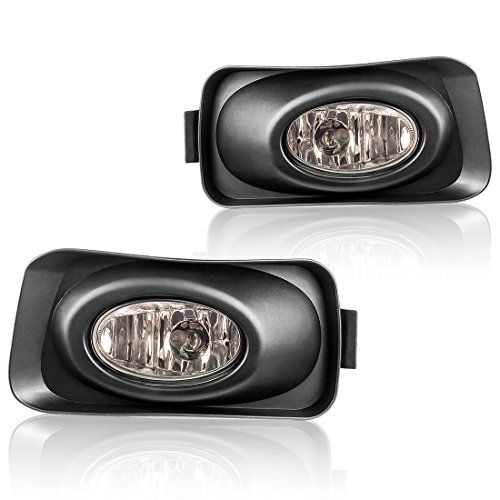 AUTOSAVER88 Fog Lights for Acura TSX 2004 2005 2006 (Real Glass Smoke Lens with Bulbs & Wiring Harness)