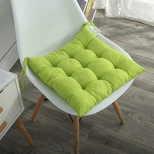 JKCTOPHOME Cojines de Asiento,Cojín de Oficina para el hogar del Estudiante cojín de Silla de Color sólido Simple-G_40 * 40cm,Almohadillas para sillas