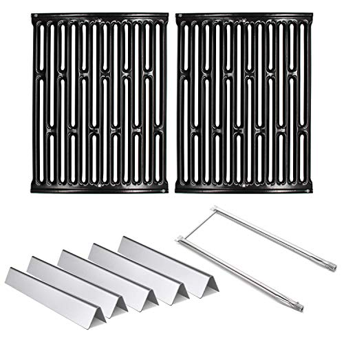 Hongso Cooking Grill Grates 7523, Flavorizer Bars 7535 and Burner Tube Kit Set 7507 Replacement Parts for Weber Spirit E-200, Spirit E-210, Spirit S 200 & 210, Genesis Silver A, Spirit 500 Gas Grills Accessories Cooking Outdoor Tools
