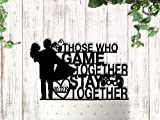 Gamer Wedding Those Who Game Together Stay Together Cake Topper Personalized
