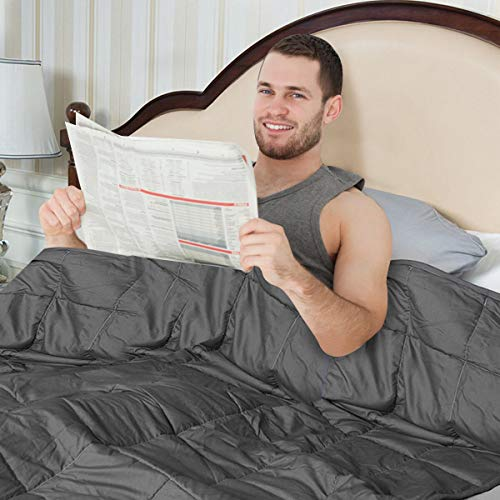 GOPLUS Gewichtsdecke Schwerkraftdecke Schwerkraft-Decke Gewichtete Schwere Decke Beschwerte Decke Schlafdecke aus Baumwolle (122X185CM, 5.5) - 7