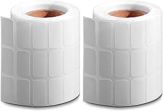 2 رول الماس نقاشی ذخیره سازی ظروف برچسب برچسب شماره برچسب برچسب مستطیل سفید برچسب های کوچک خالی برچسب های قابل چسبندگی قابل نوشتن برای لوازم نقاشی الماس 5D DIY