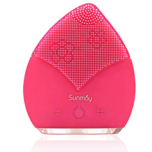 【Sunmay Leaf】SUNMAY Spazzola per la Pulizia del Viso con il Timer, Massaggiatore Viso Elettrico (Rosa)