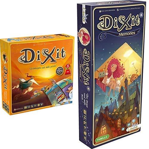 Asmodee Dixit, 8000 & Dixit 6 Memories Gioco Da Tavolo Edizione Italiana, Colore, 8010