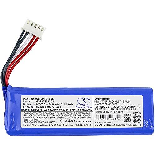 Cameron Sino -3000 mAh Batería de Repuesto para Altavoz JBL GSP872693 Compatible con Flip 4 y Flip 4 Special Edition