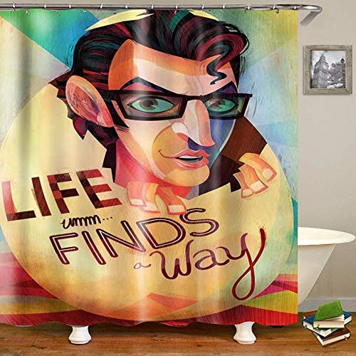 MAKLYER Fabric Shower Curtain, Digital Printing Shower Curtain, 72 x 72inch, Waterproof Polyester Shower Curtain, Bathroom Decor