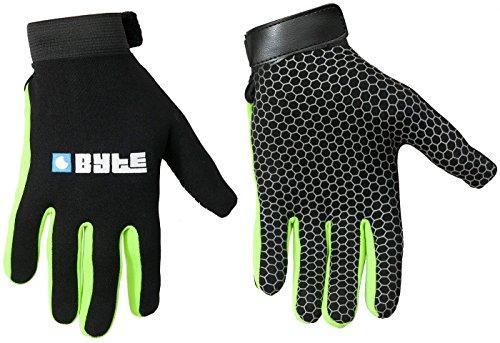 Byte figurnahe Passform Haut Hockey Handschuhe schwarz grün S grün