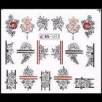 夏の水デカールバナナストロベリーデザインネイルステッカーラップスライダー装飾マニキュア (Color : 5)