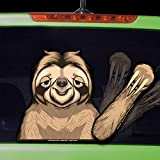 Chewy the Waving Sloth WiperTags with Decal for Rear Vehicle Wipers