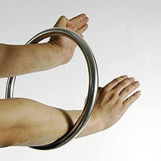 JUMPEAK Wing Chun Stainless Ring Yewen Sau Sticky Hand Strength Training Tsun Siu Lum Kung Fu
