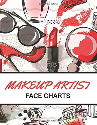 Makeup Artist Face Chart: | 101 pages 8,5' x 11' blank workbook practice | gift for girls makeup artist