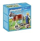PLAYMOBIL Veterinaria - City Life Caballo con Técnico de Rayos X Juguetes y Juegos 5533