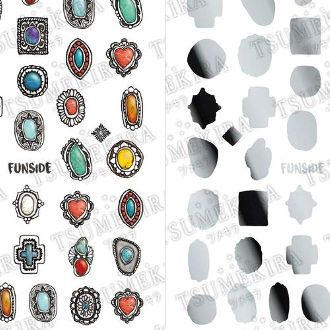 踏み台縁石コアTSUMEKIRA(ツメキラ) ネイルシール FUNSIDEプロデュース Indian Jewelry SG-FNS-101 1枚