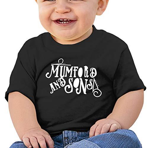 Easionerol Mumford&Sons Kids Baby Short Sleeve T Shirt 0-2t(18M,Black)
