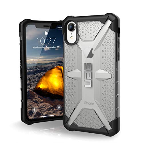 "URBAN ARMOR GEAR UAG iPhone XR [6.1"" Screen] Plasma Feather-Light Rugged [Ice] Military Drop Tested iPhone Case"