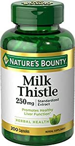 LIVER HEALTH SUPPORT: Milk thistle contains flavonoids called silymarin that have traditionally been used as support for liver health* Nature's Bounty Milk Thistle Dietary Supplements provide 250mg of Milk Thistle powder per capsule HERBAL HEALTH: Na...