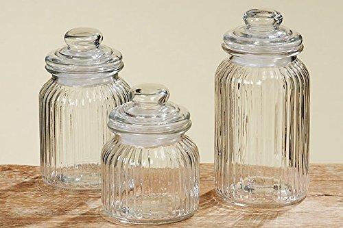 Tamia-Home 3er Universale Vorratsdose Glasdose Vorratsglas H15/19/23cm 8407700