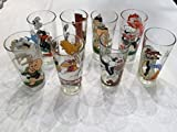 Set of 8 Pepsi Collector Series Glasses 1976