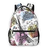 Shichangwei Mochila Escolar Paris Architecture Eiffel Tower Durable Kids Back To School Backpack...