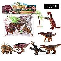 Murakush 7ピース/セット ミニ 動物フィギュア 恐竜おもちゃ シミュレーション おもちゃ ジュラ紀 再生恐竜 モデル アクションフィギュア クラシック 古代コレクション F35-18
