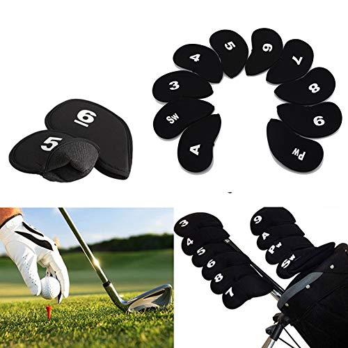 MAFAGE Golfschlägerhauben für alle Marken, Titleist, Callaway, Ping, Taylormade, Cobra, Schwarz, 10 Stück