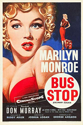 niet Bus Stop Marylin Monroe Film Tin Wall Sign Metalen Retro Poster Iron Warning Signs Vintage Opknoping Art Plaque Yard Garden Cafe Bar Pub Openbaar Gift 8X12 Inch