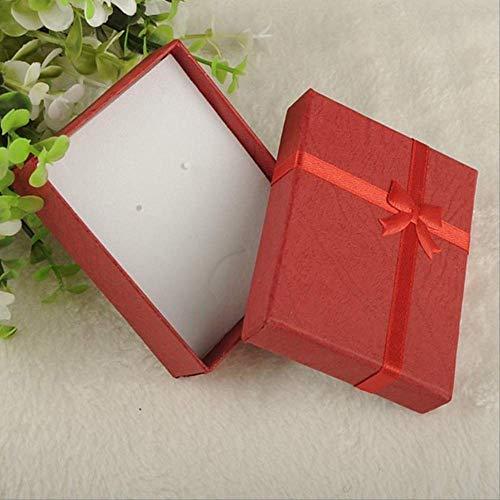 Geschenkdoos BLTLYX Mode Kleurrijk Nieuw 4x4x3cm / 8x5x2.5cm / 9x7x3cm Organizer Box Ringen Opslag Leuke doos Kleine geschenkdoos voor ringen Oorbellen 9x7x3cm Rood