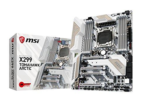 MSI X299 TOMAHAWK ARCTIC, LGA 2066 DDR4-4266+(OC) 2x M.2 Steel Frozr & 11xUSB 3.1(3xGen2 & 8xGen1), 1xUSB-C, Mystic Light, 3D X-Mounting, Intel LAN & WIFI, Steel Armor, ATX Mainboard