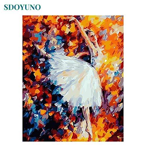 Bailarinas de ballet pintadas por pintura digital Regalos de bricolaje por pintura digital para colorear pintura dormitorio casa