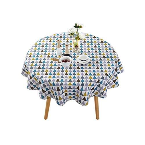 NATTHSWE Mantel redondo de lino para comedor, cocina y picnic, fiestas