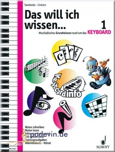 Das will ich wissen... 1 - Keyboard Noten [Musiknoten]