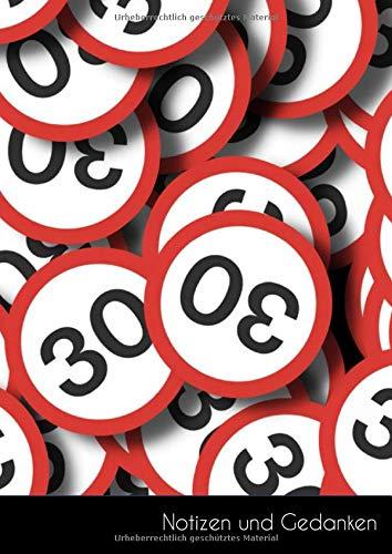 Notizen und Gedanken: Großes Führerscheinverlust MPU Zone 30 Notizbuch | Tagebuch DIN A4, liniert. Nachhaltig & klimaneutral.